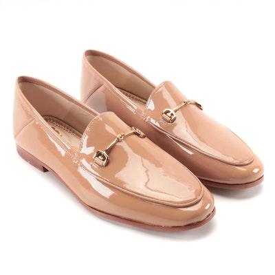 Sam Edelman Loraine Loafers in Nude Patent Leather with Bit Detail