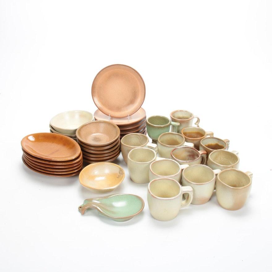 "Frankoma ""Plainsman"" Art Pottery Dinnerware, Mid-20th Century"