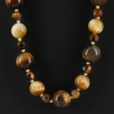 Endless Tiger's Eye Necklace