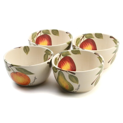 "Tabletops Lifestyles ""Le Fruit"" Ceramic Bowls"