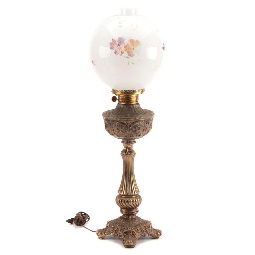 Converted Rochester Lamp Company Oil Lamp, Late 19th Century