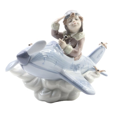 """Lladró """"Over the Clouds"""" Porcelain Figurine Designed by Joan Coderch"""