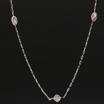 14K 1.84 CTW Diamond Station Necklace