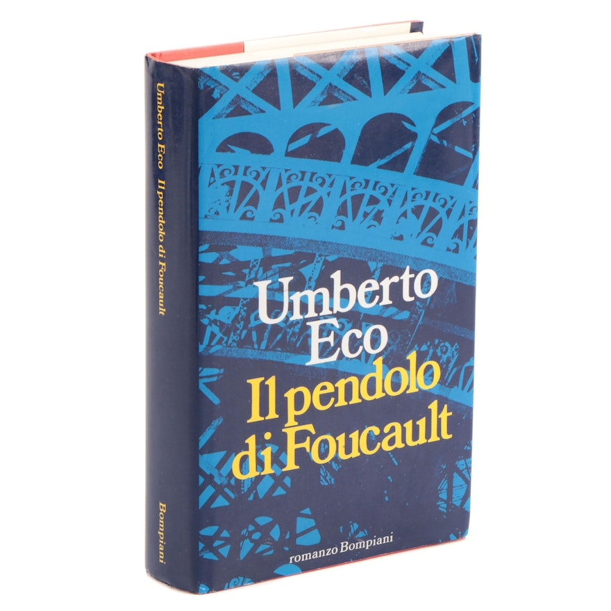 "Second Edition ""Il pendolo di Foucault"" by Umberto Eco, 1988"