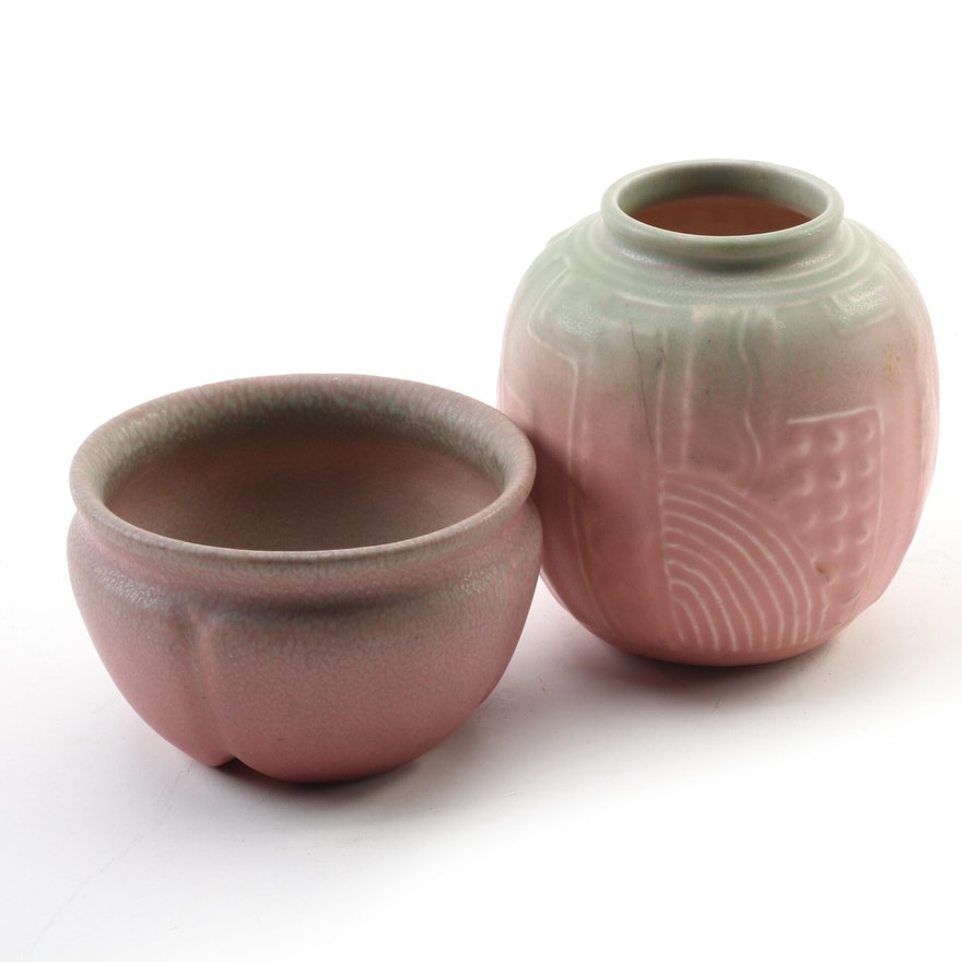 Rookwood Pottery Glazed Ceramic Production Vases, 1922 and 1930
