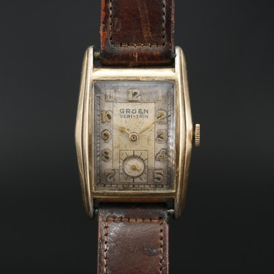 1940s Gruen Veri-Thin Gold Filled Wristwatch