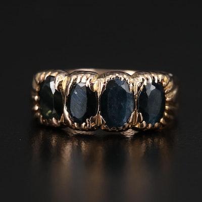 Vintage 14K Sapphire Four Stone Ring
