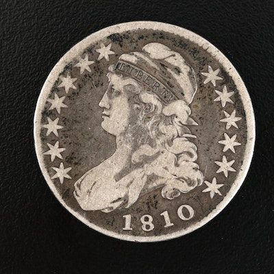 1810 Capped Bust Silver Half Dollar, Rotated Reverse