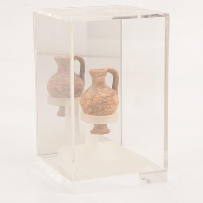 Ancient Pottery Juglet with Display Stand and Case