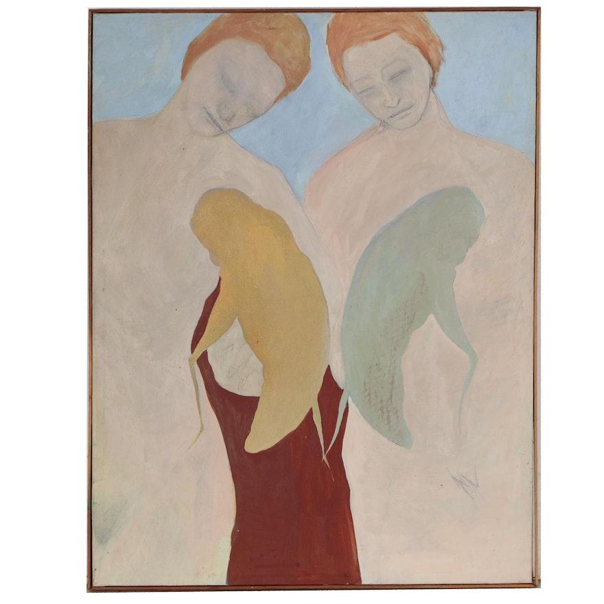 Oscar Murillo Symbolist Figurative Oil Painting