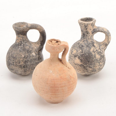Ancient Pottery Juglets, Attributed to the Mediterranean Region