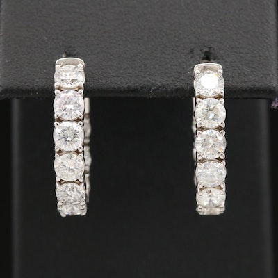 14K 4.14 CTW Diamond Inside Out Hoop Earrings