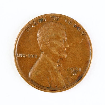 Key Date Low Mintage 1931-S Lincoln Wheat Cent