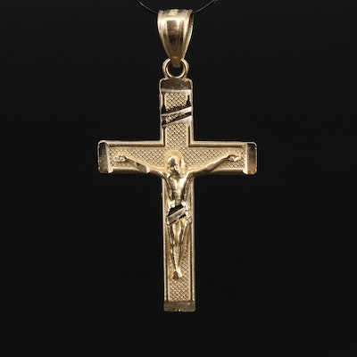 10K Yellow Crucifix Pendant