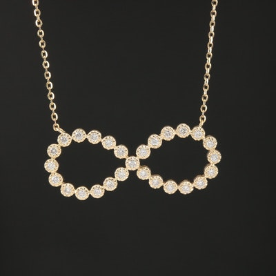 14K Diamond Infinity Necklace