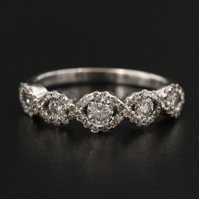 14K Diamond Loop Ring