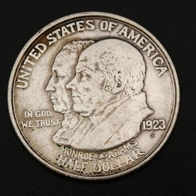 1923-S Monroe Doctrine Centennial Commemorative Silver Half Dollar
