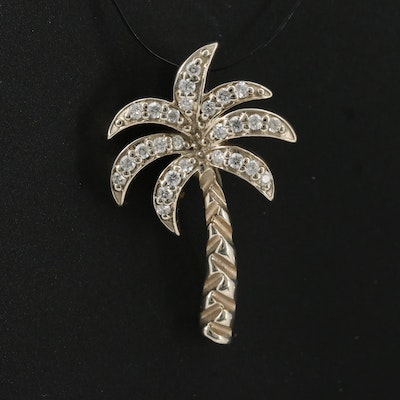 14K Diamond Palm Tree Pendant