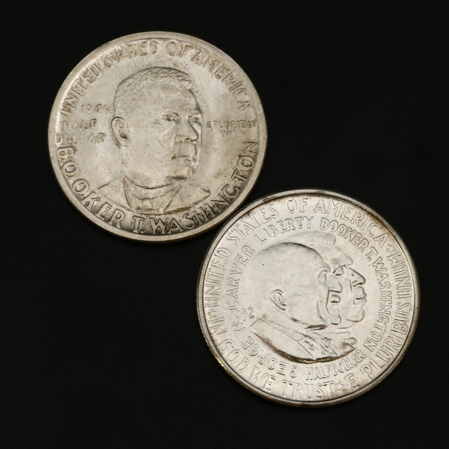 Two U.S. Commemorative Silver Half Dollars, 1946 and 1952