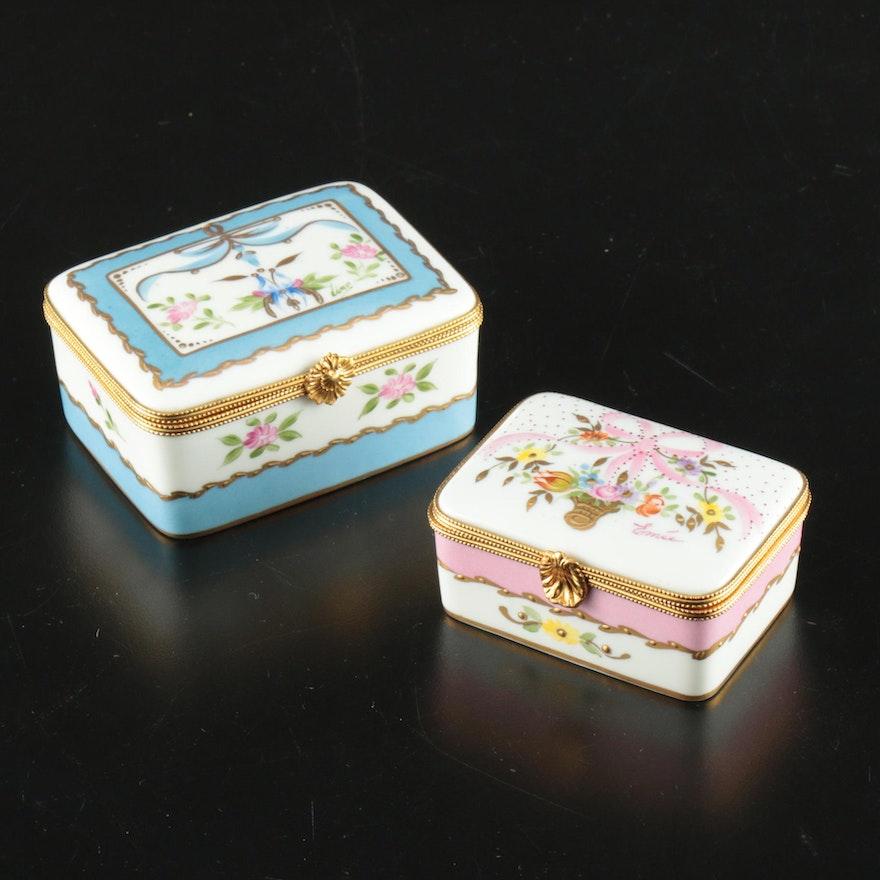 Paris Style Hand-Painted Porcelain Limoges Boxes