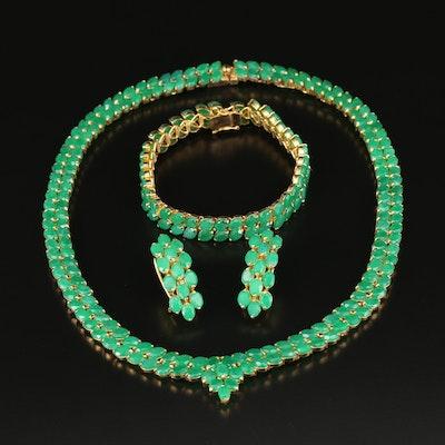 Quartz Necklace, Bracelet and Earring Set