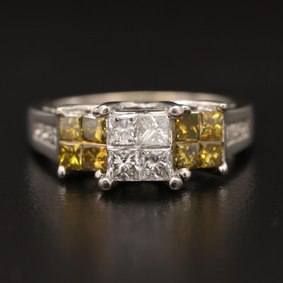 14K 1.55 CTW Invisible Set Diamond Ring