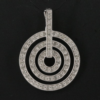 10K Diamond Concentric Pendant