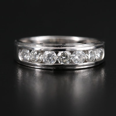 14K 1.08 CTW Diamond Channel Band