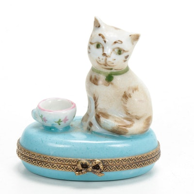 Chamart Exclusive Edition Hand-Painted Porcelain Limoges Box