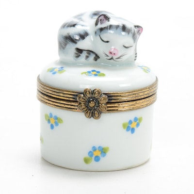 Chamart Hand-Painted Porcelain Limoges Box