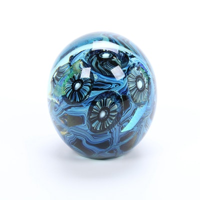 Robert Eickholt Handblown Art Glass Paperweight, 2010