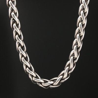 David Yurman Sterling Wheat Chain with 18K Accents