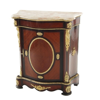 Napoleon III Style Gilt Metal-Mounted Marble Top Meuble D'appui