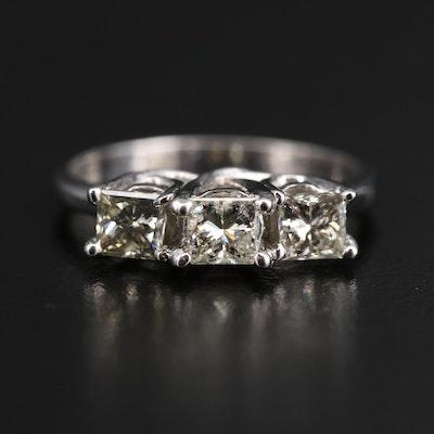 14K 1.06 CTW Diamond Three Stone Ring