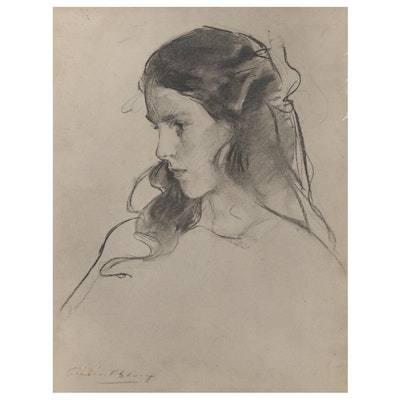 "Reproduction Print after Cecilia Beaux ""Ernesta Drinker"""