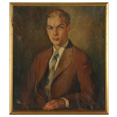 Portrait Oil Painting in the Style of James Montgomery Flagg