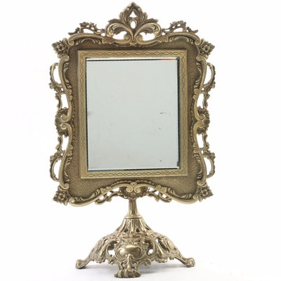Cast Brass Dressing Table Pivot Mirror