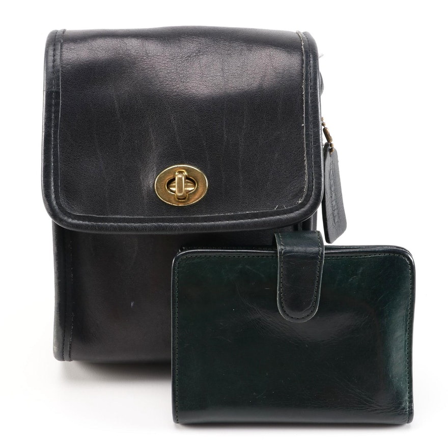 Coach Leather Crossbody Bag and Leather Bifold Wallet