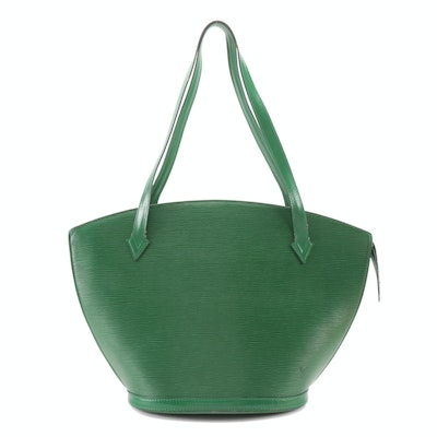 Louis Vuitton Saint Jacques GM Tote Bag in Borneo Green Epi and Smooth Leather