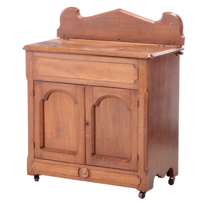 Victorian Walnut Washstand, Late 19th Century