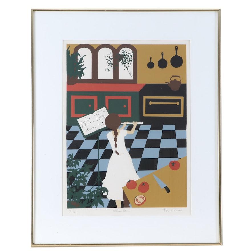 """Lorna Massie Serigraph """"Kitchen Sonata"""""""