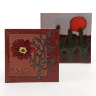 Eldigres Ceramic Staghorn Cholla and Cactus Tiles