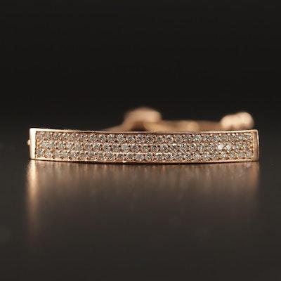 14K 1.10 Diamond Bolo Bracelet