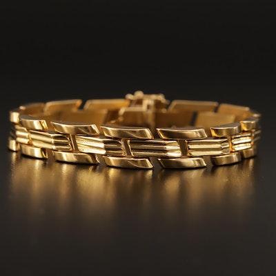 Aurafin 18K Panther Link Bracelet