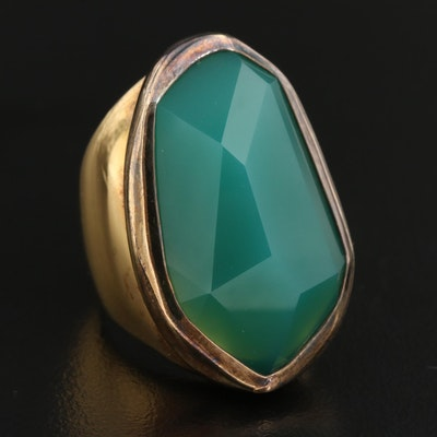 Daniel Swarovski Sterling Chalcedony Ring