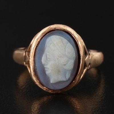 Vintage 14K Sardonyx Cameo Ring