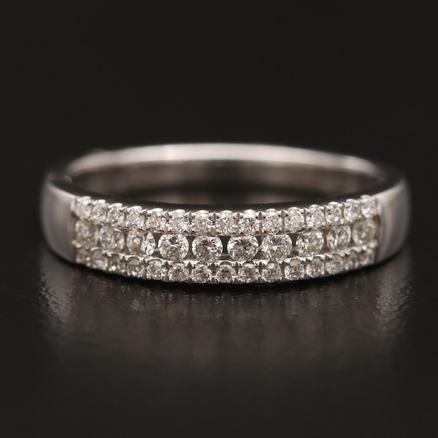 14K Diamond Channel and Framed Band