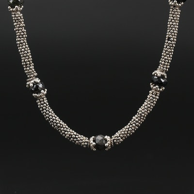 Sterling Black Onyx Necklace