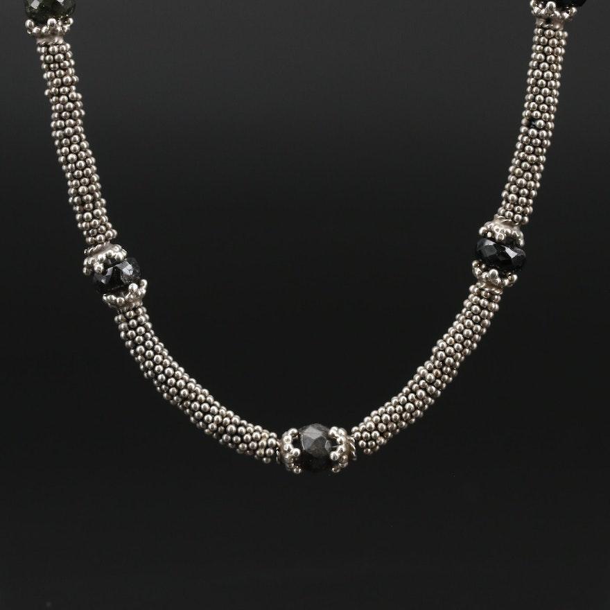 Sterling Black Onyx Necklace