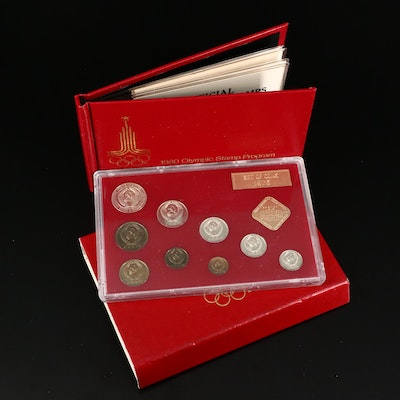 Commemorative Olympic Stamps and Soviet Coins, 1976